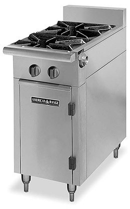 "American Range HD11-2SU-O Medallion Series 11"" Heavy Duty Range with 2 Step Up Burners and Storage Base"