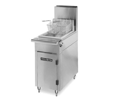 American Range HD17-50F Medallion Series Heavy Duty Range Match Fryer 50lb Fat Capacity