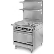 """American Range HD34-17VG-1FT-1 Medallion Series 34"""" Heavy Duty Range with French Top/Griddle Combination and Standard Oven"""