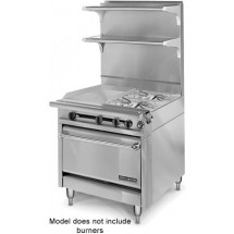 """American Range HD34-17VG-1FT-1C Medallion Series 34"""" Heavy Duty Range with French Top/Griddle Combination and Convection Oven"""