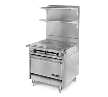 "American Range HD34-1FT-1HT-O Medallion Series 34"" Heavy Duty Range with French Top/Hot Top and Storage Base"