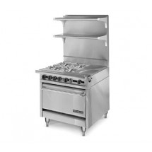 "American Range HD34-1HT-4-M Medallion Series 34"" Heavy Duty Range with Hot Top and Four Open Burners and Modular Top"