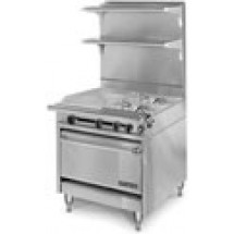 American-Range-HD34-23TG-1HT-1C-Medallion-Series-34-quot--Heavy-Duty-Range-with-23-quot--Thermostatic-Griddle-Even-Heat-Hot-Top-and-Convection-Oven
