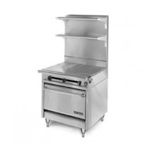 American-Range-HD34-23TG-1HT-O-Medallion-Series-34-quot--Heavy-Duty-Range-with-23-quot--Thermostatic-Griddle-Even-Heat-Hot-Top-and-Storage-Base