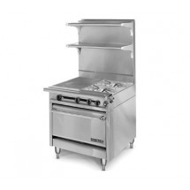 """American Range HD34-23VG-1HT-1 Medallion Series 34"""" Heavy Duty Range with 23"""" Griddle and 11"""" Even-Heat Hot Top and Standard Oven"""
