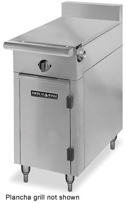 "American Range HD34-34PG-O Medallion Series 34"" Heavy Duty Range with Plancha Griddle and Storage Base"
