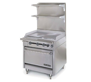 "American Range HD34-34TG-M Medallion Series 34"" Heavy Duty Range with 34"" Thermostatic Griddle and Storage Base"