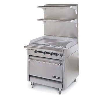 "American Range HD34-34VG-O Medallion Series 34"" Heavy Duty Range with 34"" Griddle and Storage Base"