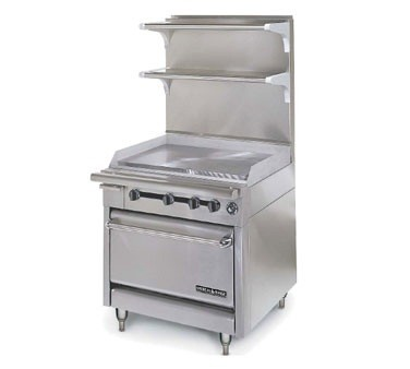 """American Range HD34-34VG-M Medallion Series 34"""" Heavy Duty Range with 34"""" Griddle and Modular Top"""