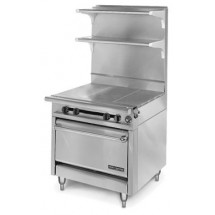 American-Range-HD34-3HT3-1-Medallion-Series-34-quot--Heavy-Duty-Range-with--3--Even-Heat-Hot-Top-and--3--Open-Burners-and-Standard-Oven