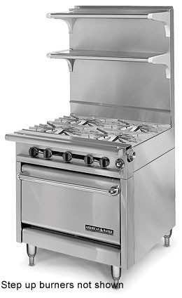 "American Range HD34-4SU-1C Medallion Series 34"" Heavy Duty Range with (4) Step Up Burners and Convection Oven"