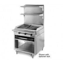 American Range HD34-CRB-1 Medallion Heavy Duty Range Match Charbroiler and Standard Oven