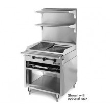 American Range HD34-CRB-M Medallion Heavy Duty Range Match Charbroiler and Modular Top