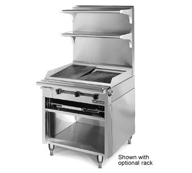American Range HD34-CRB-O Medallion Heavy Duty Range Match Charbroiler and Storage Base