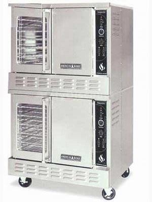 American Range MSD-2 Gas Double Deck Convection Oven Standard Depth