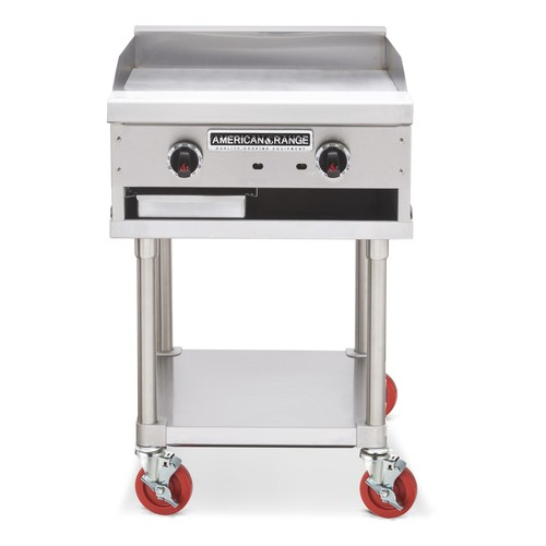 "American Range SAG-24 24"" W Thermostatic Gas Griddle Counter Unit"
