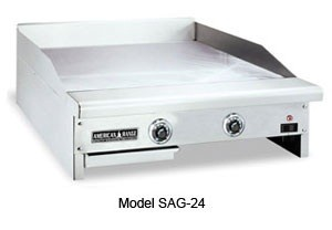 "American Range SAG-72 72"" W Thermostatic Gas Griddle Counter Unit"