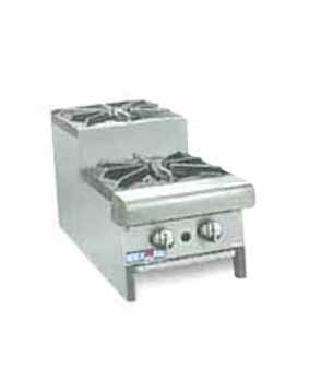 "American Range SUHP12-2 Step Up Hotplate 12""W Counter Unit with 2 Burners"
