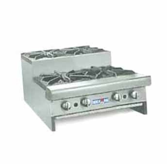 """American Range SUHP24-4 Step Up Hotplate 24""""W Counter Unit with 4 Burners"""