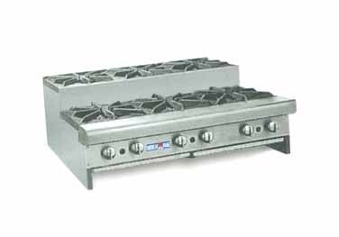 "American Range SUHP36-6 Step Up Hotplate 36""W Counter Unit with 6 Burners"