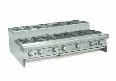 "American Range SUHP48-8 Step Up Hotplate 48""W Counter Unit with 8 Burners"