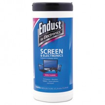 Endust Anti Static Premoistened Cleaning Wipes, 6 Caniters/Carton