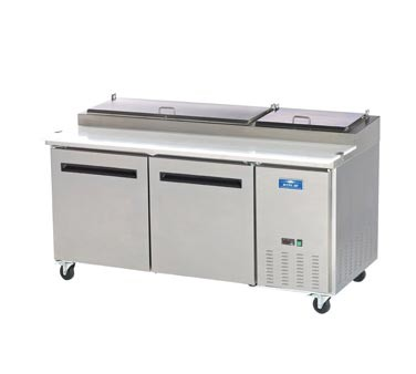 Arctic Air APP71R  Two Door Refrigerated Pizza Prep Table 71""