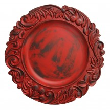 """The Jay Companies 1320272 Round Red Aristocrat Charger Plate 14"""""""