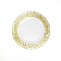 The Jay Companies 1470321-GD Arizona Gold Glass Charger Plate 13""