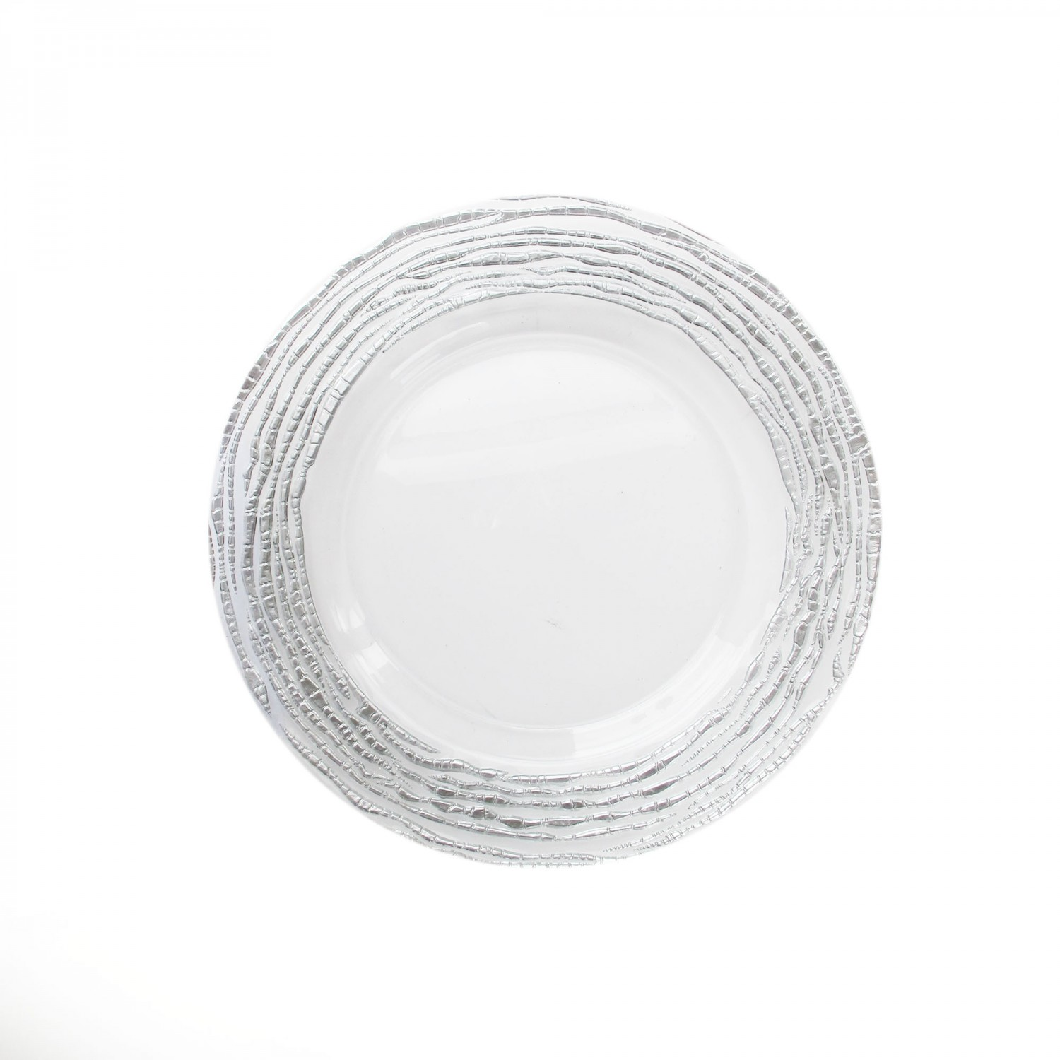 The Jay Companies 1470321-SL Arizona Silver Glass Charger Plate 13""