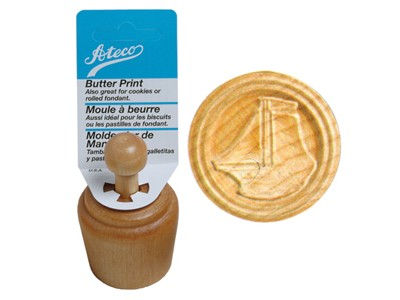 Ateco 1926 Wood Butter Print Mold (Sailboat)