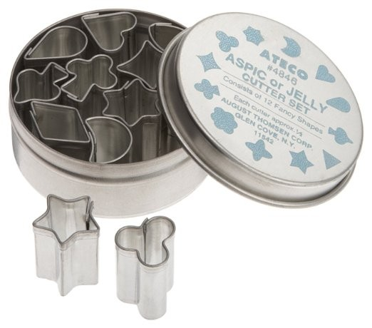 Ateco 4846 12 Piece Aspic / Jelly Cutter Set, .5 Inch