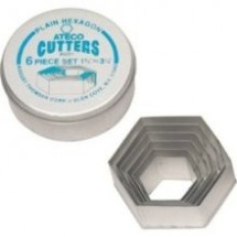 Ateco-5251-6-Piece-Plain-Hexagon-Cutter-Set-