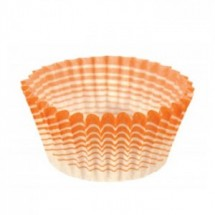 Ateco 6406 Orange Stripe Baking Cups