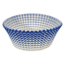 Ateco 6438 Blue Striped Muffin Cups