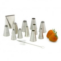 Ateco 786 12 Piece Large Pastry Tube Set