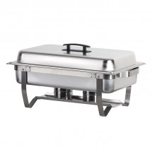 Atosa AT751L63-1 Foldable Full Size Chafing Dish with Pan and Lift-Up Lid 8 Qt.