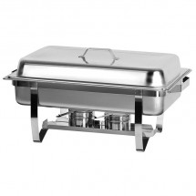 Full Size Chafing Dish with Pan and Lift-Up Lid 8 Qt.