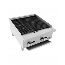 Atosa ATCB-24 Heavy Duty Countertop Char-Rock Broiler 24""