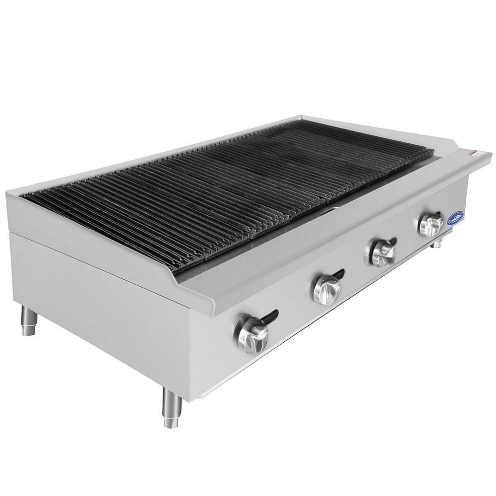 Heavy Duty Countertop : Atosa atcb heavy duty countertop char rock broiler quot