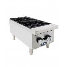 Atosa ATHP-12-2 Heavy Duty Two-Burner Hotplate, 12""