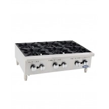 Atosa ATHP-36-6 Heavy Duty Six-Burner Hotplate, 36""