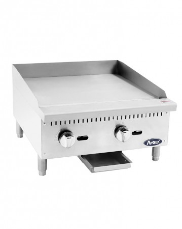"""Atosa ATMG-24 Heavy Duty Manual Griddle, 24"""""""