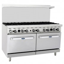 "Atosa ATO-10B 60"" Gas Range with (10) Open Burners and (2) 26 1/2"" Ovens"