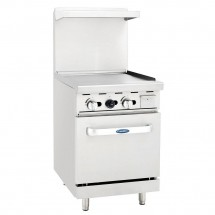 "Atosa ATO-24G 24"" Gas Range with 24"" Griddle and Single 20"" Oven"