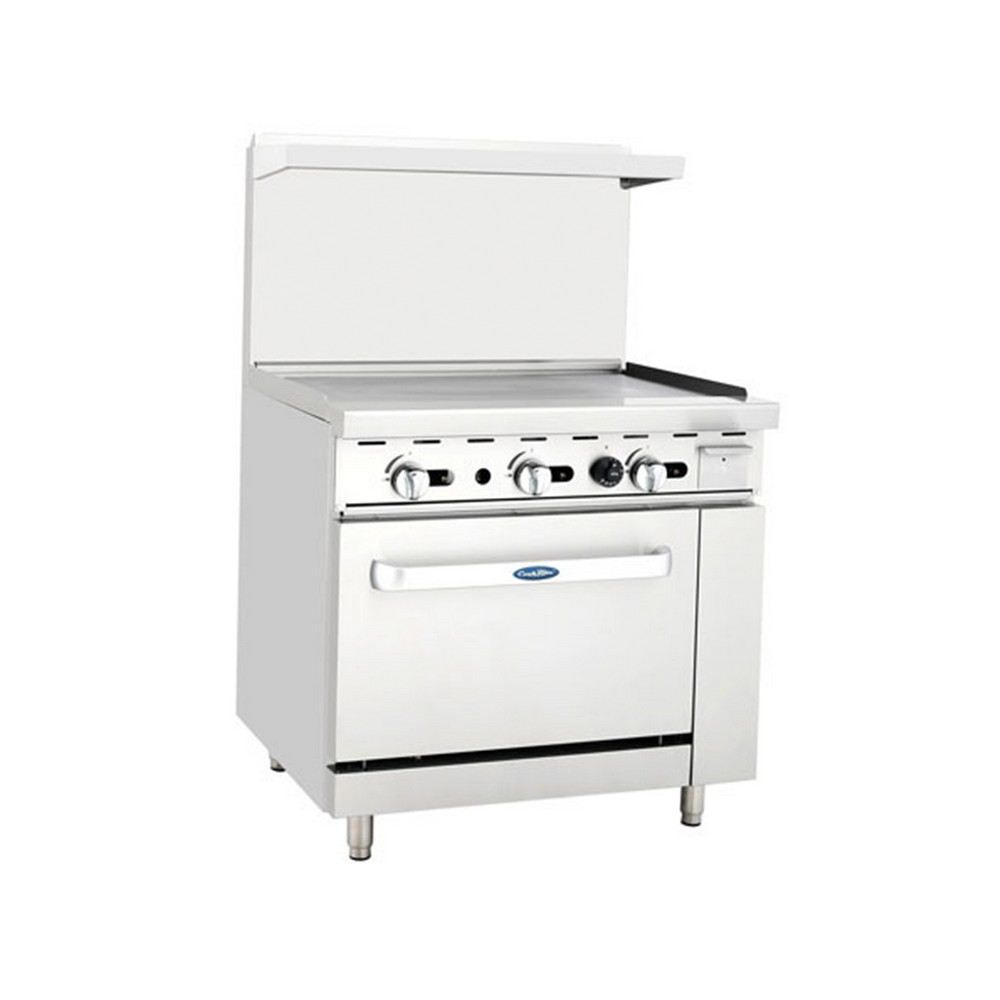 Atosa ATO-36G 36 Gas Range with 36 Griddle and (1) 26 1/2 Oven