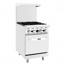 Atosa ATO-4B 24 Gas Range with (4) Open Burners and Single 20 Oven