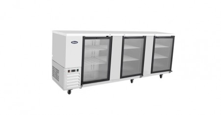 Atosa MBB90G Glass Door Stainless Steel Back Bar Cooler 90""