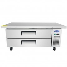 Atosa MGF8452 2-Drawer Chef Base with Extended Top 60""
