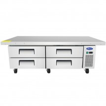 Atosa MGF8454 4-Drawer Chef Base with Extended Top 76""